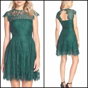 BB Dakota Open Back Lace Cocktail Dress